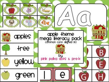 Apple Theme MEGA Literacy Pack ~ Letter Recognition, Begin