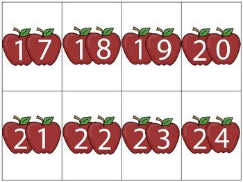 Apple Theme Math Center Game {Greater Than Less Than}