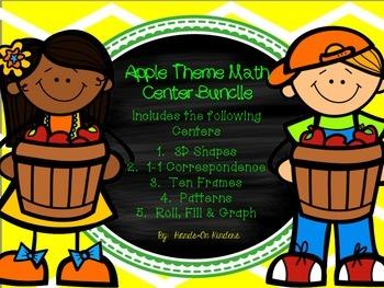 Apple Theme Math Centers Bundle