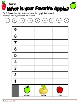 Apple Theme Math Graphing Lessons & Center Activities
