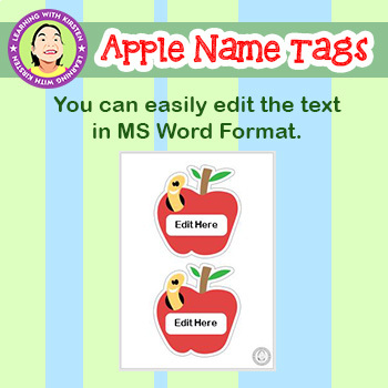 Apple Theme Name Tags and Labels