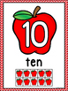 Apple Number Posters 0-10