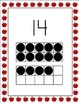 Apple Theme Number Posters With Ten Frames, 0-20