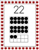 Apple Theme Number Posters With Ten Frames, 21-30