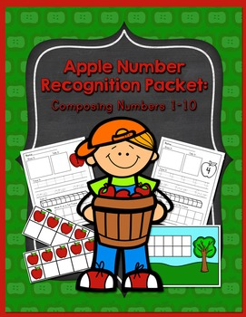 Apple Theme Number Recognition Composing Numbers 1-10 Prin