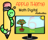 Apple Theme Numbers Digital Activities  1 to 10 Distance Learning