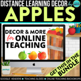 Apple Theme Online Teaching Backdrop | Google Classroom He