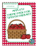 Apple Theme Pack for Speech Therapy