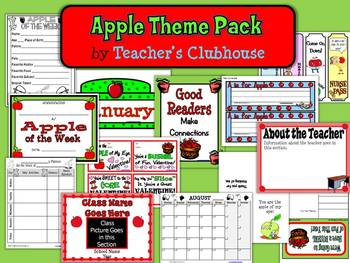 Apple Theme Pack from Teacher's Clubhouse