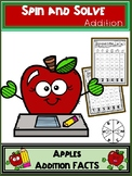 Apple Activities Addition Spin and Solve Math Centers