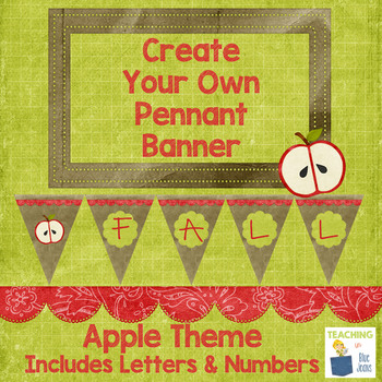 Apple Theme Pennant Banner   Decor, Bulletin Board, Word Wall & More!