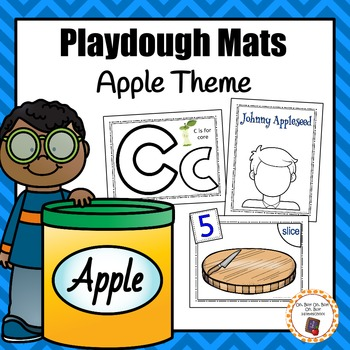 Apple Theme Playdough Mats