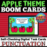 Apple Theme Punctuation Practice BOOM Cards™