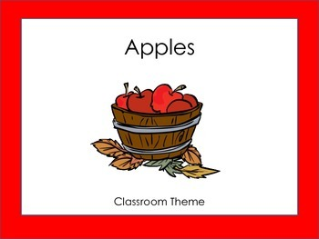Classroom Theme: Apple: Reading Strategies and Math Strate