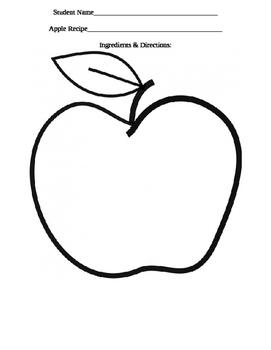 Apple Theme Recipe Book, Class Book