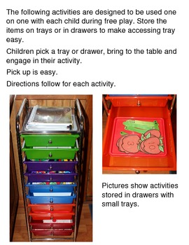 Apple Theme Related Tray Activities