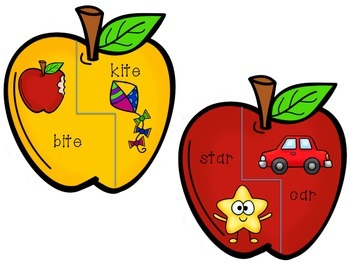 Apple Theme Rhyming Literacy Center