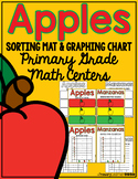 Apple Theme Sorting Mats and Graphing Chart Math Centers {English & Spanish}