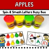 Apple Theme Task Box | Play Dough Alphabet Activity