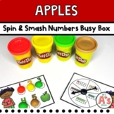 Apple Theme Task Box | Play Dough Numbers and Counting Activity
