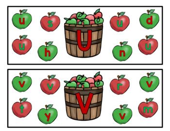 Apple Theme Uppercase Lowercase Letters Matching