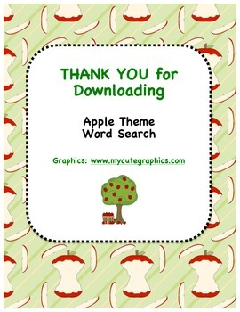 Apple Theme Word Search
