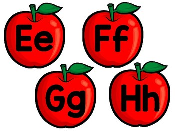 Apple Theme Word Wall Letter Headings!