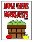 Apple Theme Worksheets