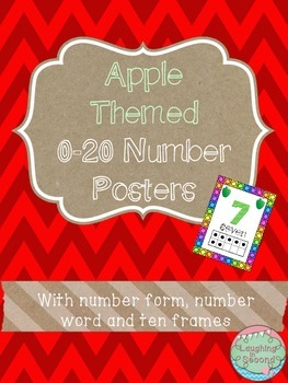 Apple Themed 0-20 Numbers Posters