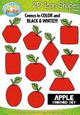Apple 2D Icon Shapes Clipart {Zip-A-Dee-Doo-Dah Designs}