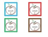 Apple Themed AR Book Bin Labels