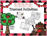 Apple Themed Activities: Craftivity, Addition, Graphing, & Color by Code