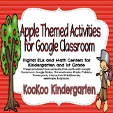 Apple Themed Activities for Google Classroom