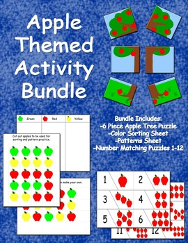Apple Themed Activity Bundle