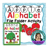 Apple Themed Alphabet File Folder Game to Practice Uppercase and Lowercase Lette