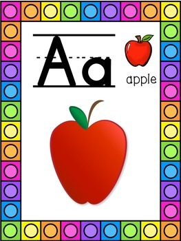 Apple Themed Alphabet Posters