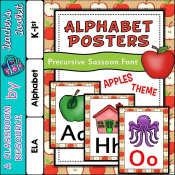 Apple Themed Alphabet Posters Frieze {UK Teaching Resource}