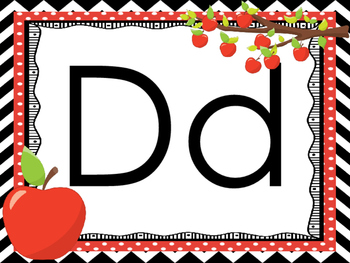 Apple Themed Alphabet Printable Posters/Anchor Charts.