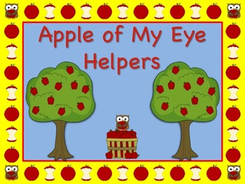 """Apple Themed """"Apple of My Eye"""" Job Chart Cards / Signs Classroom Management!"""