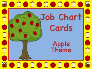 "Apple Themed ""Apple of My Eye"" Job Chart Cards / Signs Cla"