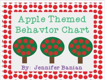 Apple Themed Behavior Clip Chart
