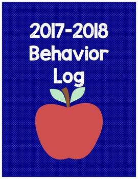 Apple Themed Behavior Log