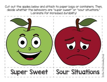 Apple-Themed Behavior Sort Activity