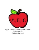 Apple Themed Book and Bin Labels