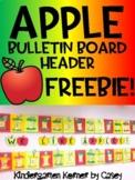 Apple Themed Bulletin Board Header FREEBIE