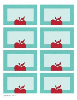 10 Unique Apple-Themed Business Cards for Teachers--EDITABLE