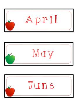Apple Themed Calendar Set