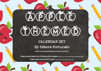 Apple Themed Calendar Set