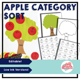 Apple Themed Category Sort Game--Editable