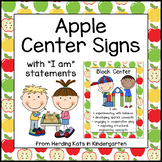 Apple Themed Center Signs